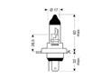 Ampoule H4-12V 60/55W P43t Xtra White