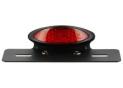 Kit Feu Arriere Ovale Led Noir avec Cabochon Rouge et Support de Plaque homologué