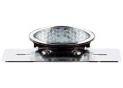 Kit Feu Arriere Ovale Led Chrome avec Cabochon Blanc et Support de Plaque homologué