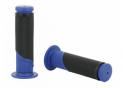 Poignées Bicolores Bleu/Noir Longueur 120mm - Ø22mm